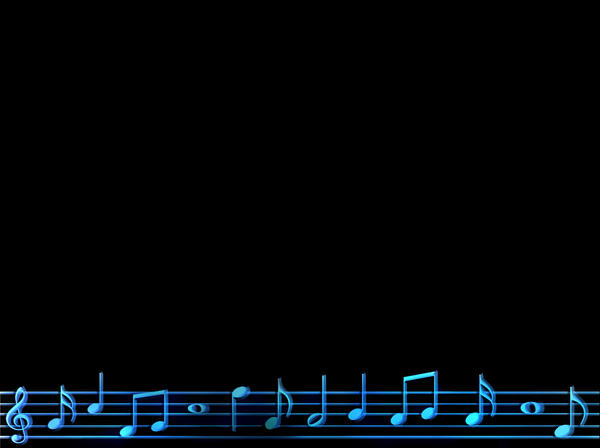Musical Score PowerPoint BG by Shamasii