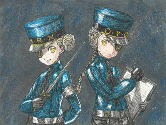Persona 5 Wardens Caroline and Justine by Chuck-K