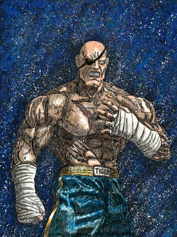Street Fighter: Sagat by Chuck-K