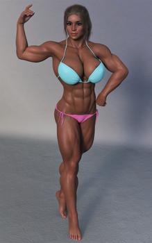 Aly bigger posing practice