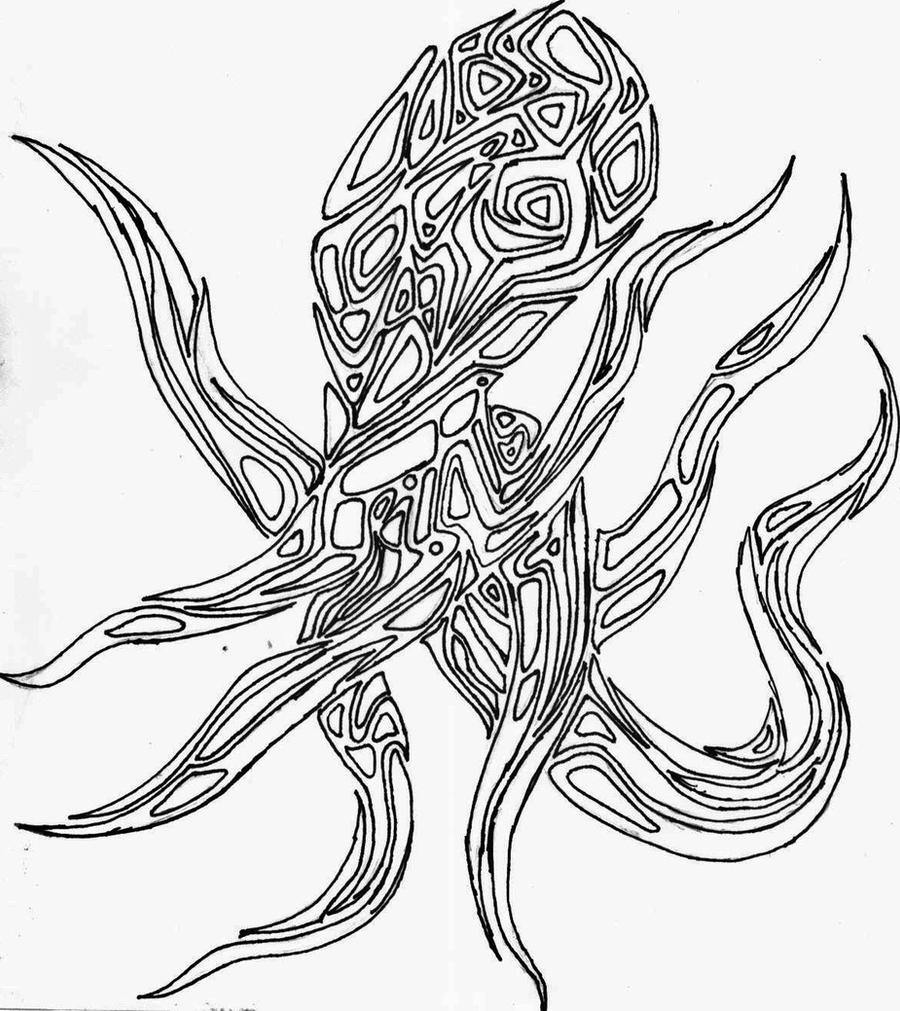Line Art Octopus : Octopus tatoo lineart by brendaan on deviantart