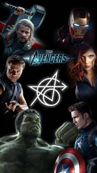 Original 6 - Avengers mobile background by Milkyage