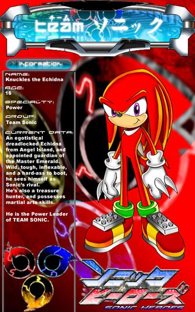 knuckles the echidna wallpapers. Knuckles the Echidna by *CaptRicoSakara on deviantART