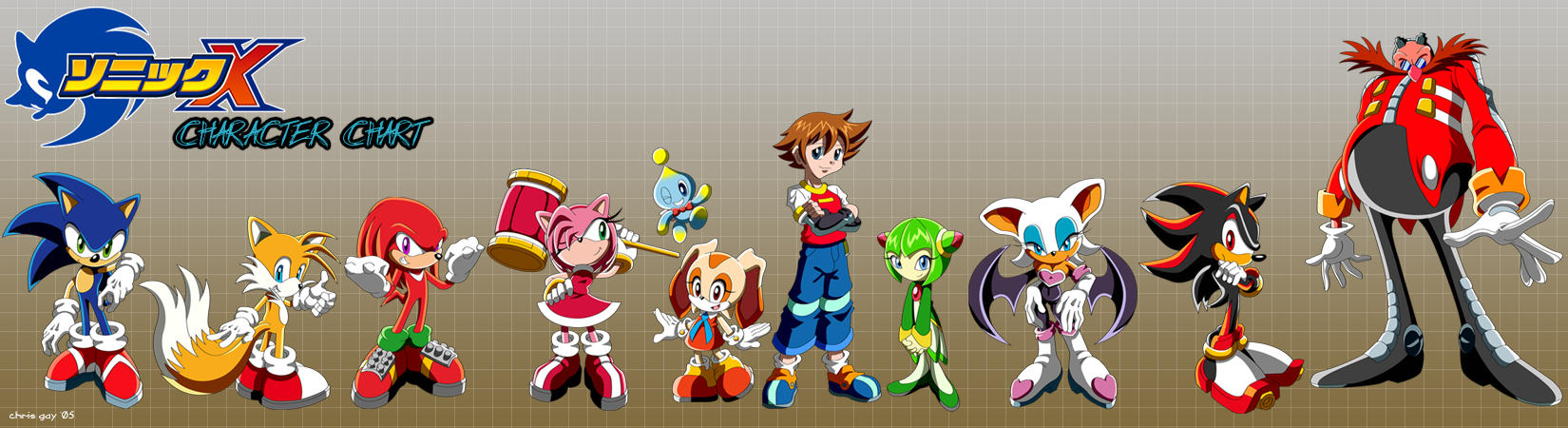 Sonic X Characters Names