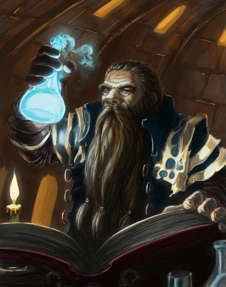 Dwarven Alchemist by captdiablo