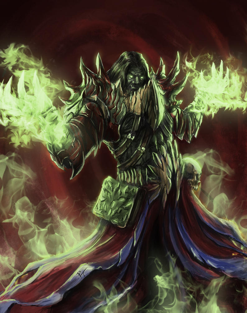 Orc Warlock by captdiablo
