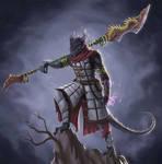 Commission - Dragonborn Warlock