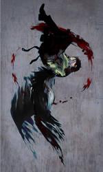 falling angel by SERAPHLEI