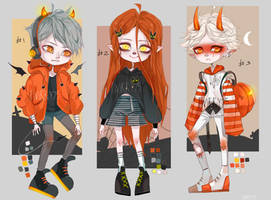 [CLOSED AUCTION ] Adoptables Halloween chibi by twikky75