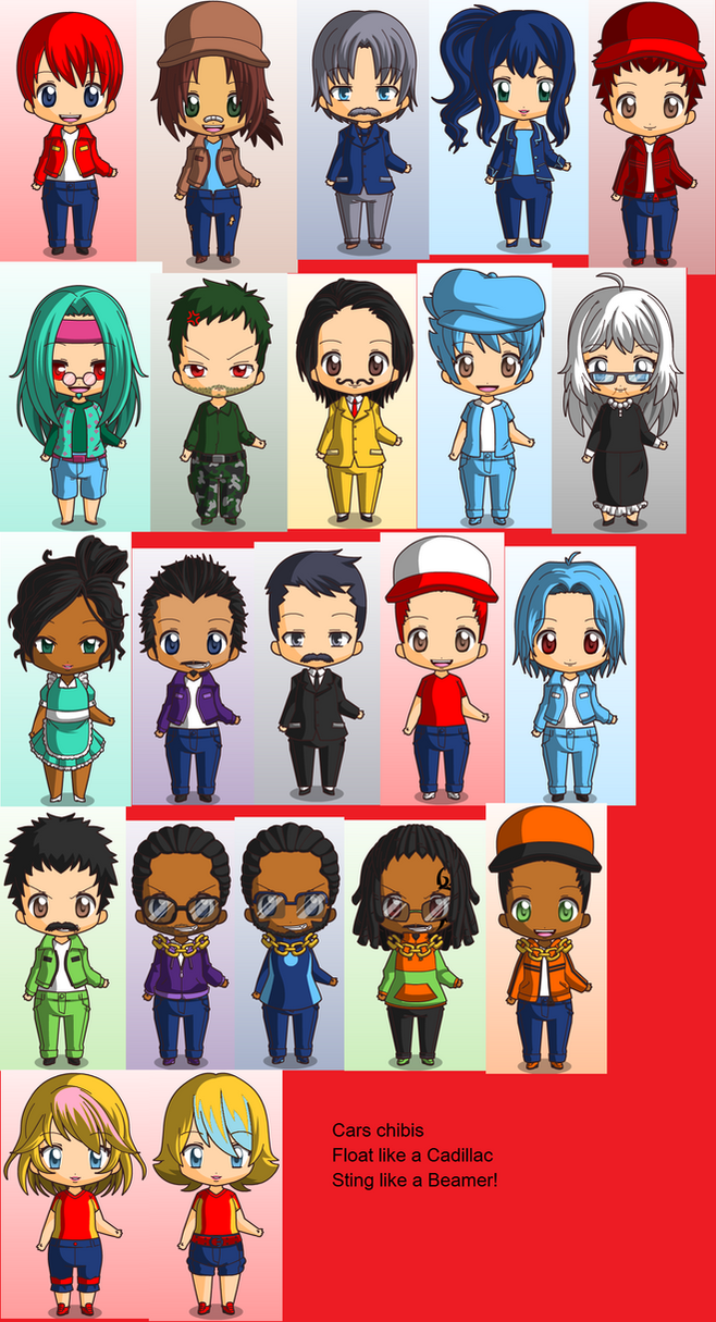 Cars chibis by DCatpuppet