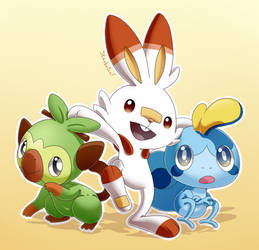 Gen 8 Starters by Strobotic