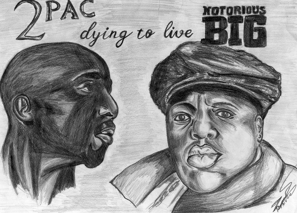 Notorious BIG and 2pac by g3r0vsk1 on DeviantArt