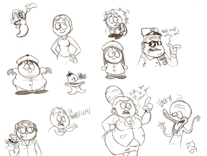 South Park Doodlies by dustindemon