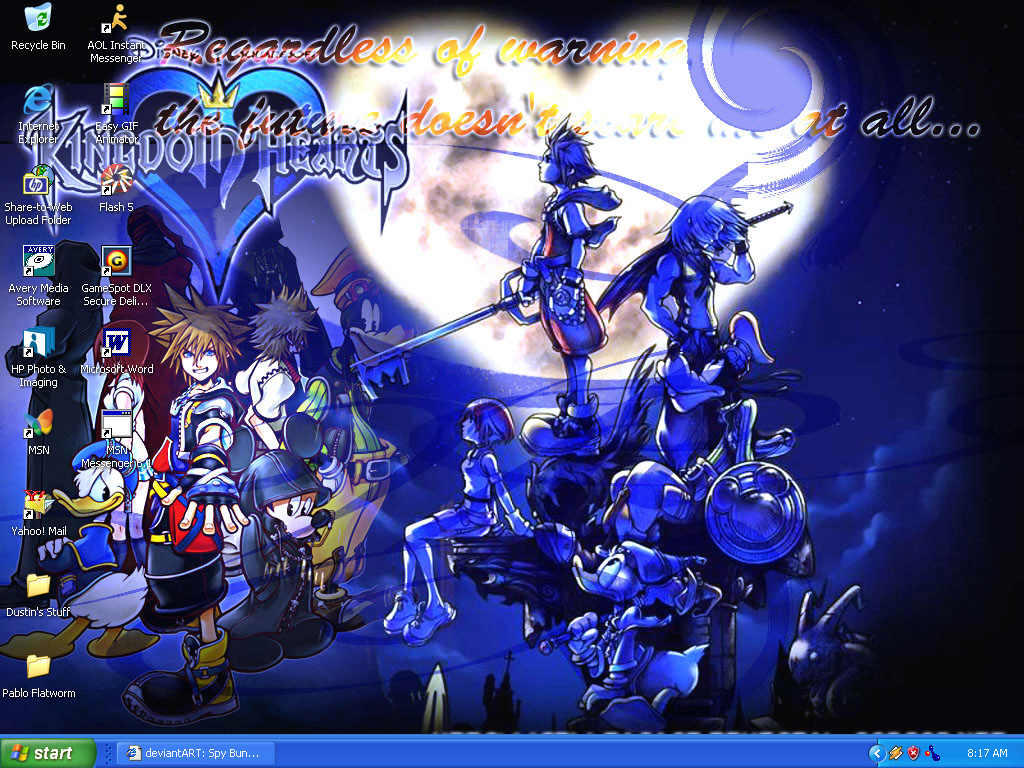 Kingdom Hearts Desktop by dustindemon