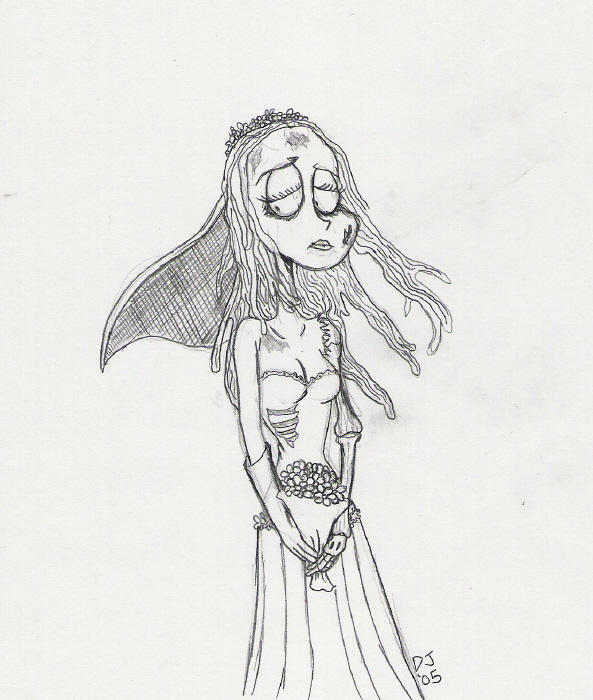 Emily, the Corpse Bride SKETCH by dustindemon
