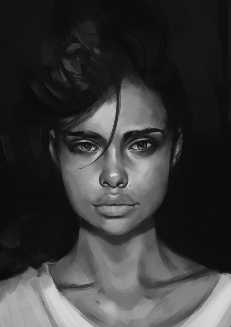 Portrait value study 2 by Sammavanklaarbergen