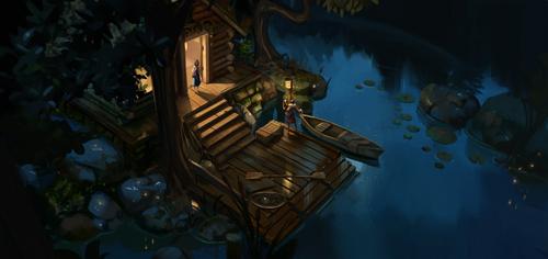 The lake cabin