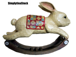 Rabbit Rocking Wooden PNG