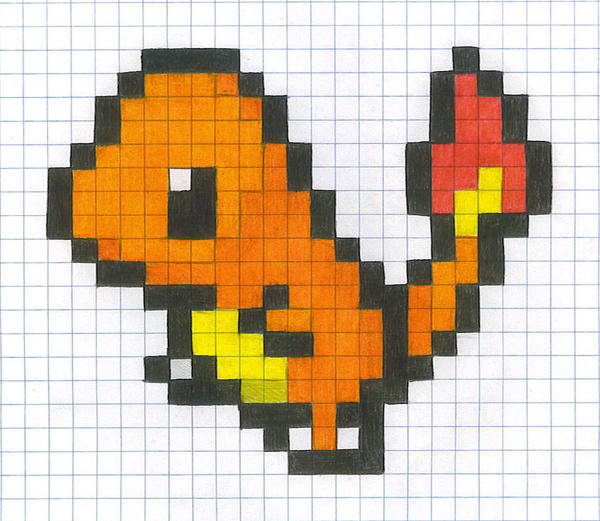 Graph Paper Charmander by yodana