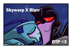 Blurr x Skywarp Stamp by yodana