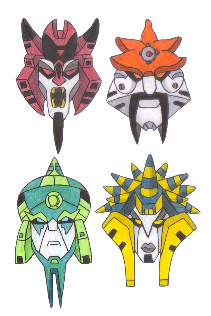 Transformers animated quintesson mask designs by yodana on deviantart