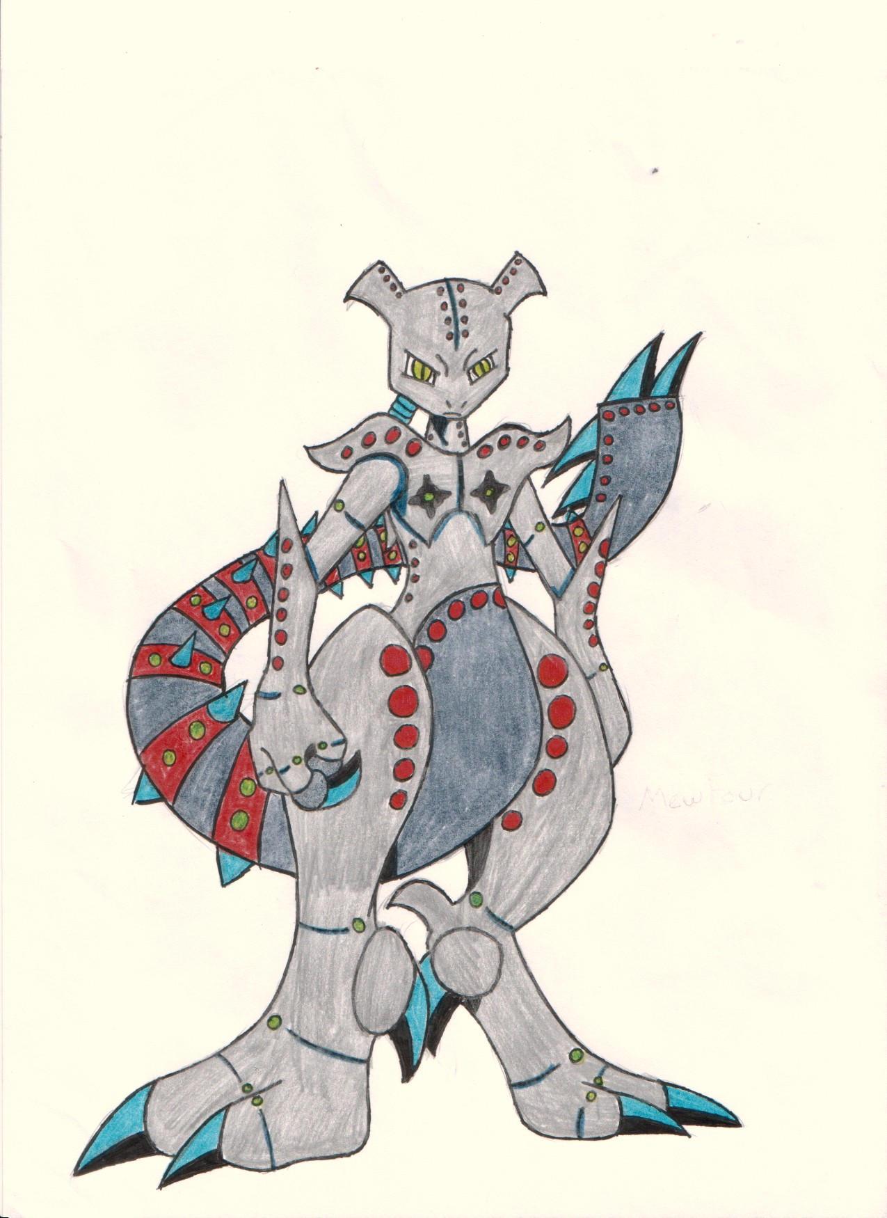 Mewthree Robot Form by yodana on DeviantArt