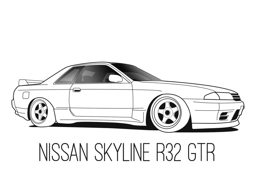 Nissan r32 skyline wallpaper