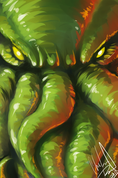 Monster Portrait 2 - Cthulhu by DanjiIsthmus
