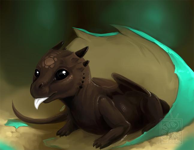 Chocolate Hatchling by DanjiIsthmus