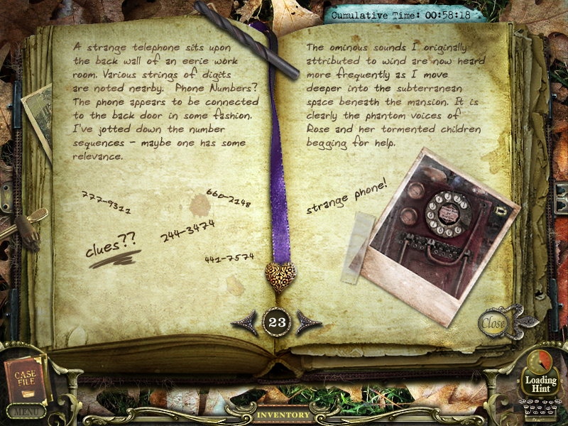 Return to ravenhearst journal 23 by inkheart17 on deviantart for Big fish games phone number