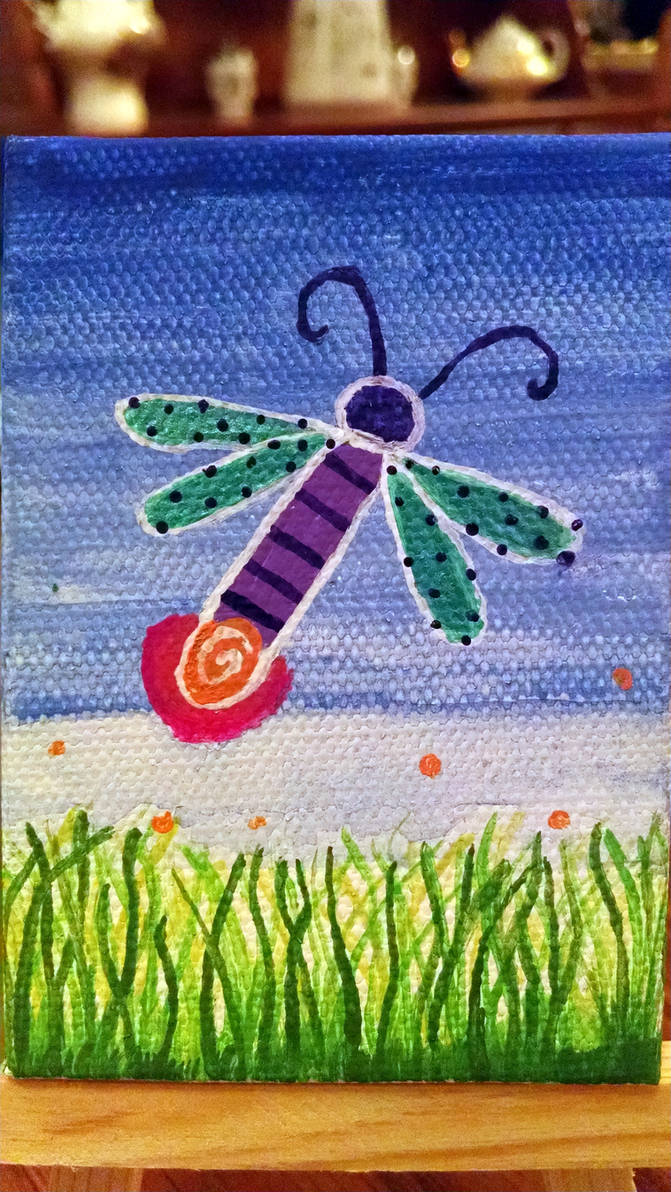 Mini Canvas - Firefly by InkHeart17