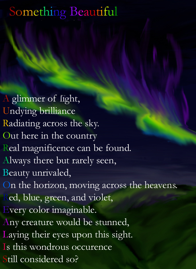 an analysis of the poetry of the northern lights of aurora borealis First here is the full text of the poem i discuss next the auroras of autumn the northern lights appear again in wallace stevens: the poems of our.