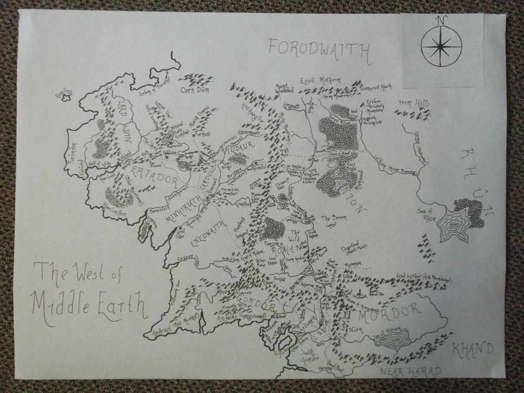 Did Maps In Middle Earth Have West: The West Of Middle Earth Map By Dewy6 On DeviantArt