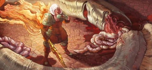 Adelheit Slayer of demons by Beastysakura