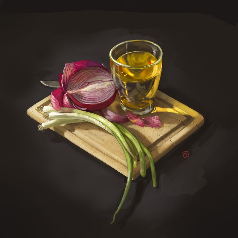 Still Life: Onions by Beastysakura