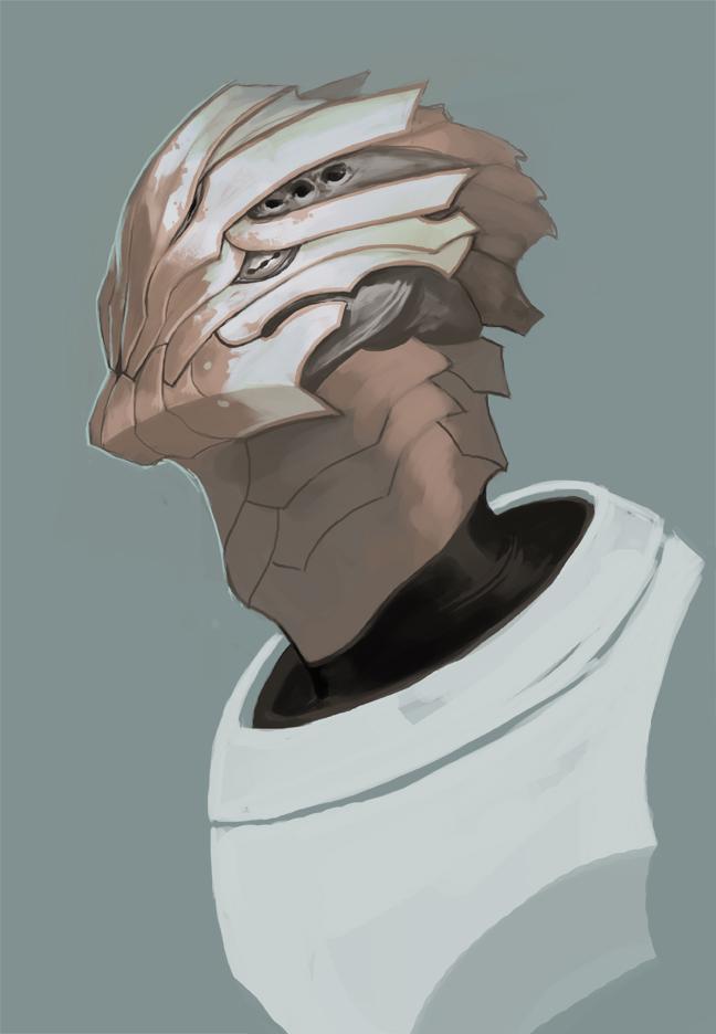 Sketch:  alien face by Beastysakura
