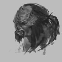 Klingon doodle by Beastysakura
