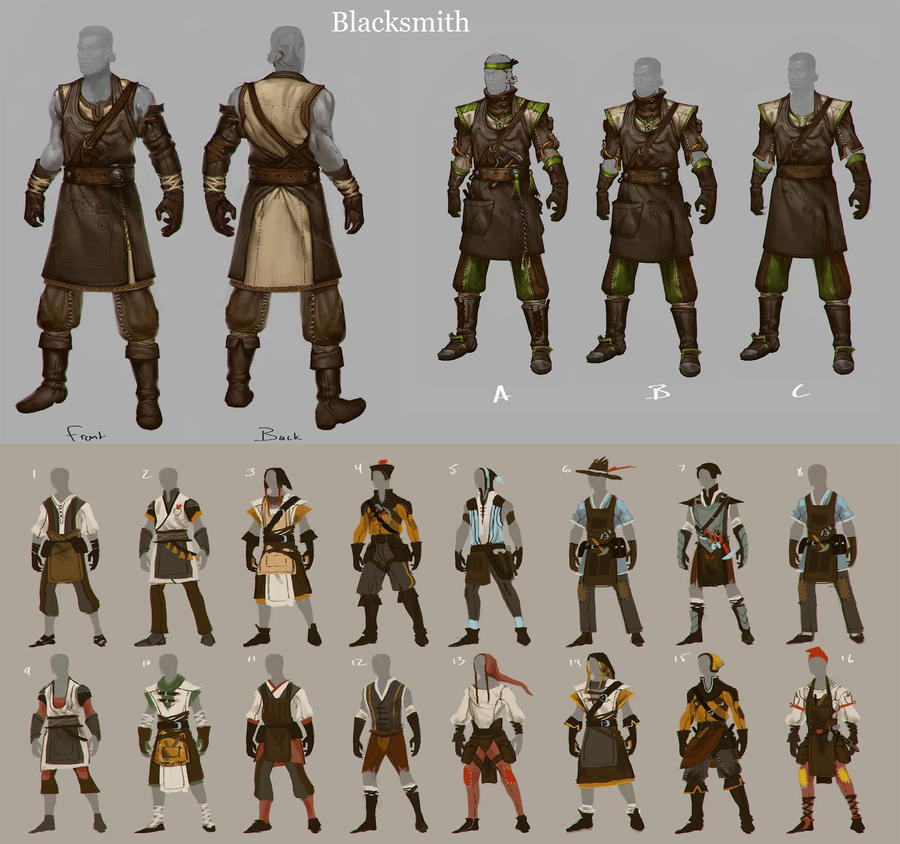 Character Design Forge : Reckoning blacksmith concept by beastysakura on deviantart