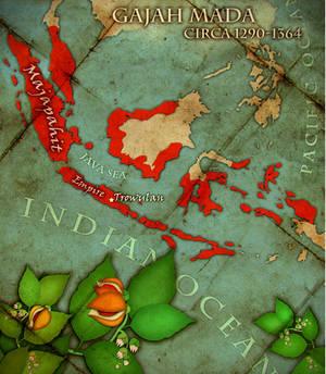 MajapahitEmpire GajahMada map