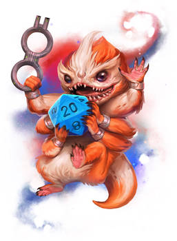 Official Skittermander, critical hit deck art