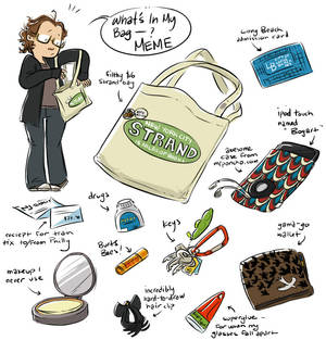 what's in my bag: the meme