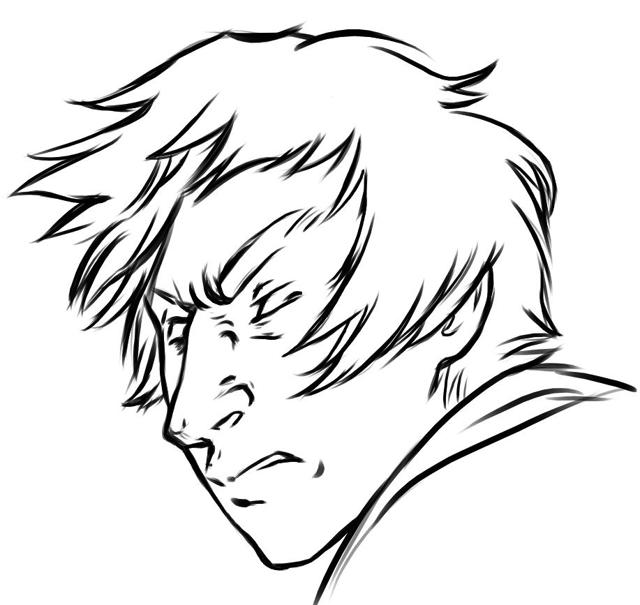 Line Drawing Angry Face : Angry man drawing pixshark images galleries