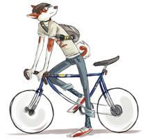 Takashi on a bike by basalt