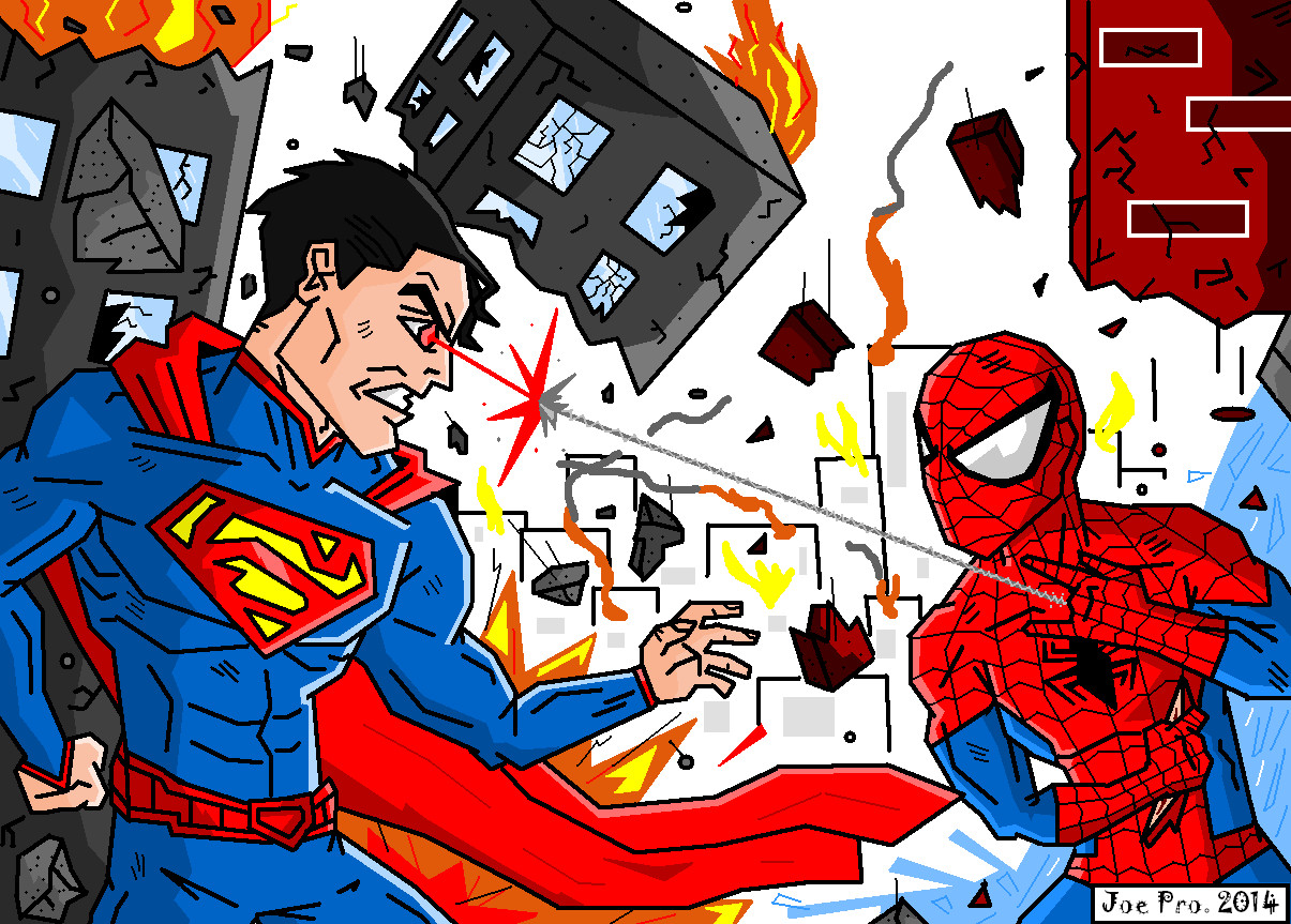 JoeProCEO's Superman Vs Spider-Man by JoeProCeo on DeviantArt
