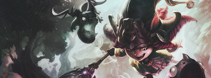 League of Legends Lulu Facebook Cover by berXamet on DeviantArt