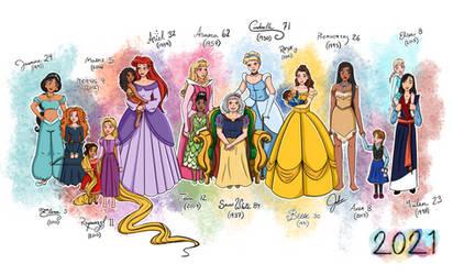 2021Disney Princesses