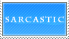 .::Stamp::. Sarcastic (Blue Version) by Maliciouses