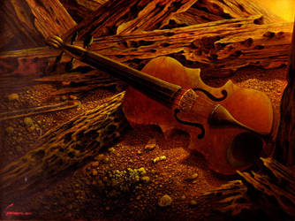 violin by sasbrush