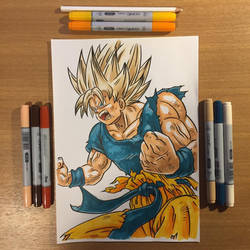 Super Saiyajin Son Goku by Shozen