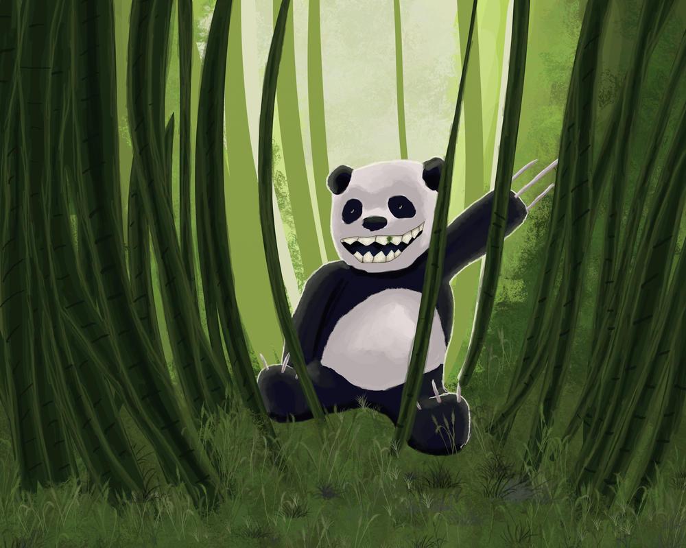 Daily art: 05 because panda by busch-art
